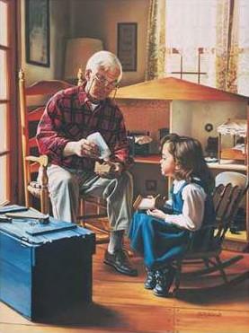 nonno e bimba