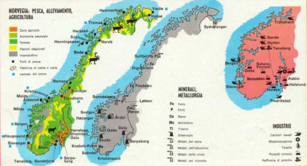 La Norvegia Cartina.La Norvegia Ricerca Scolastica