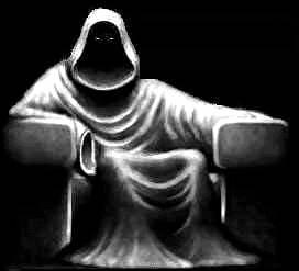 Demone seduto
