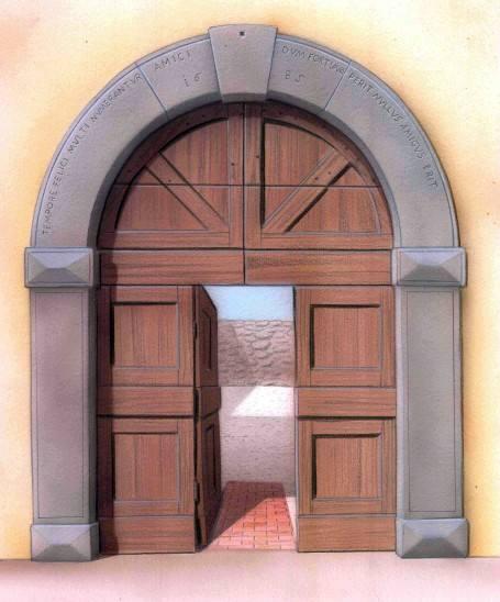 Una piccola porta dava accesso al passaggio pedonale, ma volendo il ...