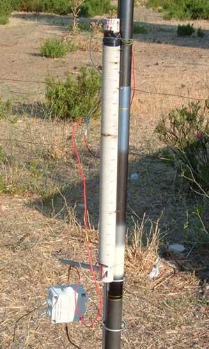 Antenna usando una canna da pesca