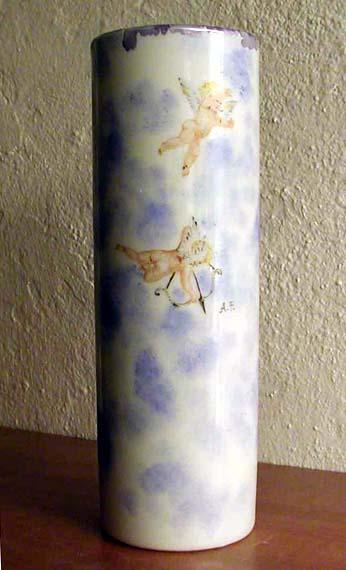 Amorini - Dipinto su porcellana di A. Pallastrelli
