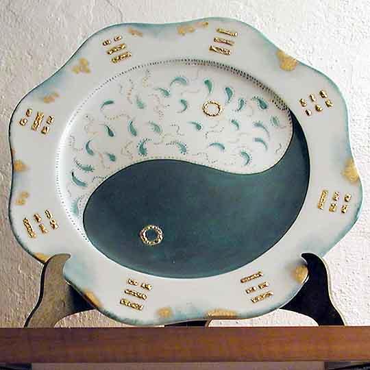 Tao - Dipinto su porcellana di A. Pallastrelli
