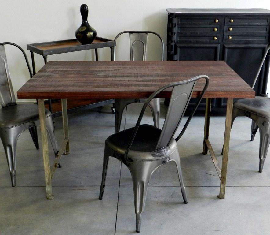 Tavolo scrittoio tavolino in ferro e legno vintage - Tavoli vintage legno ...