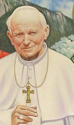 Papa Giovanni Paolo II - Opera di Luigi Regianini (particolari)