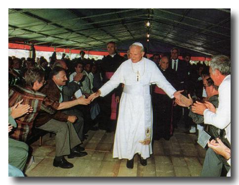 La prima volta di papa Wojtyla in Comelico