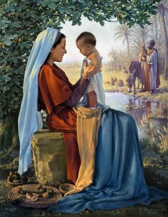La fuga in Egitto della Santa Famiglia