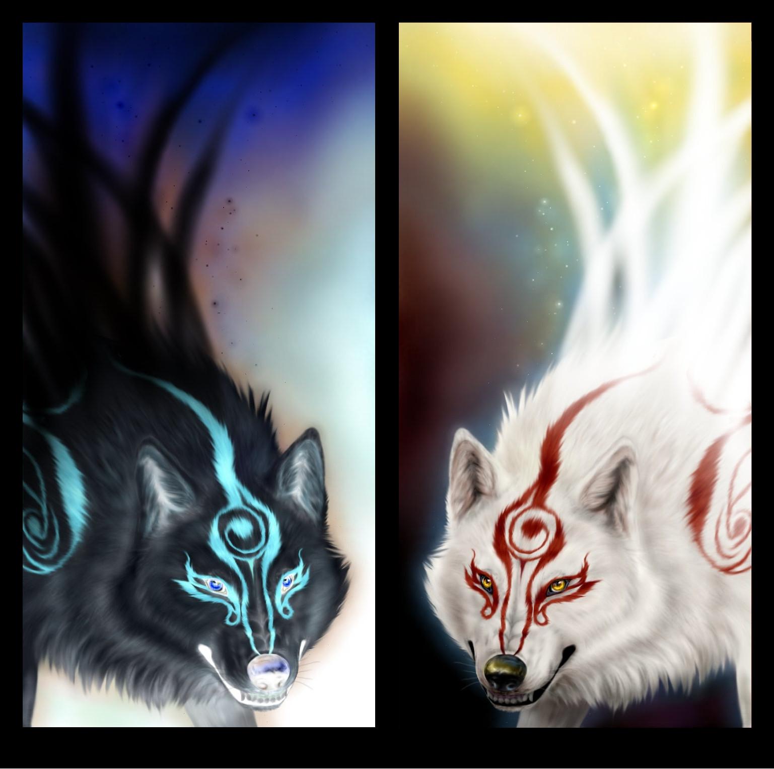 White Wolf And Black Wolf by TrreisyWhiteWolf 20 5BDesktopNexus com 5D    White Wolf And Black Wolf Fighting