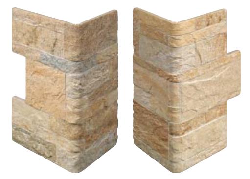Piastrelle gres rivestimento moderno effetto pietra fiordo rockstyle r gold ebay - Angolari per piastrelle ...