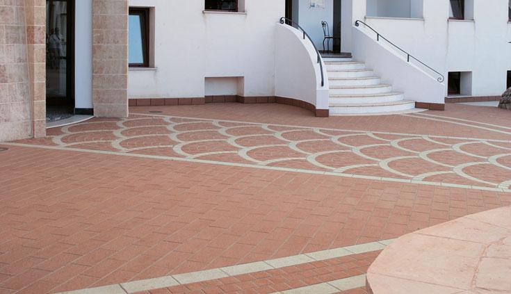 Piastrelle in gres porcellanato pavimento esterno dolmen for Piastrelle da esterno rosa