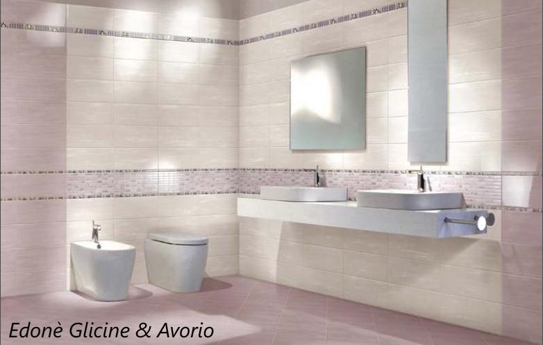 Piastrelle bagno pavimento rivestimento moderno edon cipria rosa avorio bianco ebay - Pavimento e rivestimento bagno uguale ...