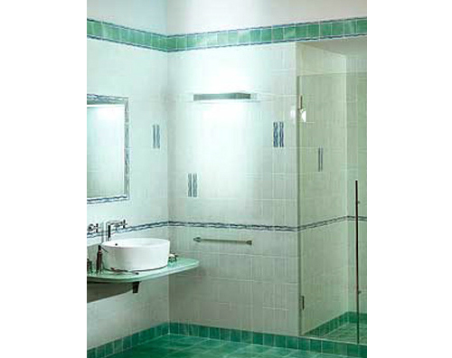 Bagno color verde tiffany
