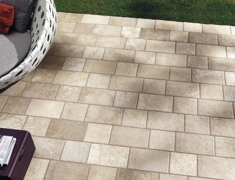 Piastrelle pavimento esterno panaria gres porcellanato - Piastrelle effetto pietra per esterno prezzi ...