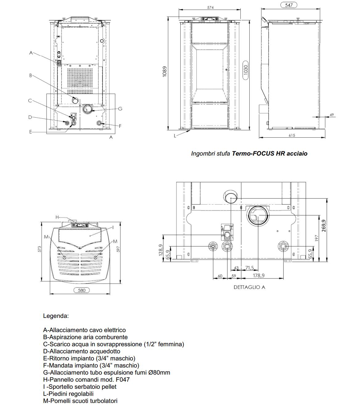 Termostufa pellet ventilata anselmo cola termo focus 16kw - Art 16 bis tuir causale bonifico ...