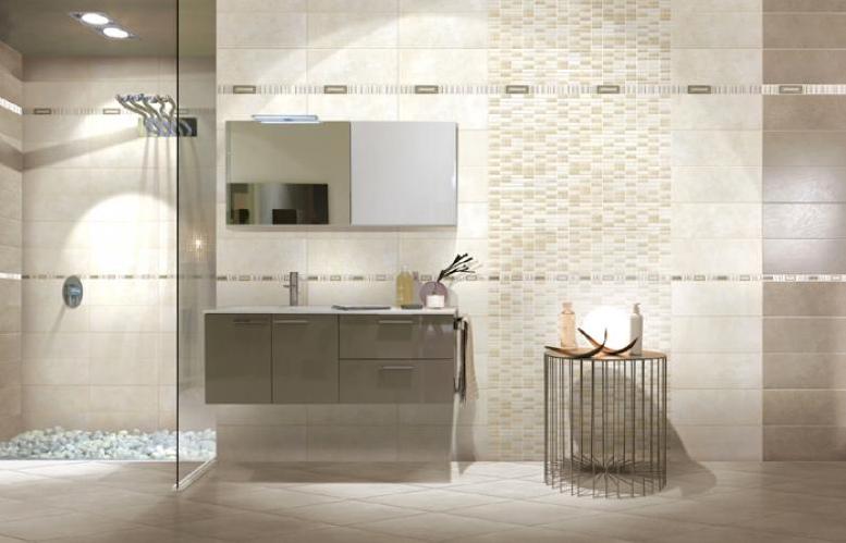 Piastrelle ceramica pavimento rivestimento bagno moderno Regina Azzurro e Avorio  eBay