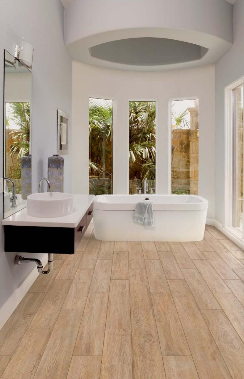 bagno con gres effetto legno: pavimento rivestimento ecologico ... - Bagno Con Gres Effetto Legno