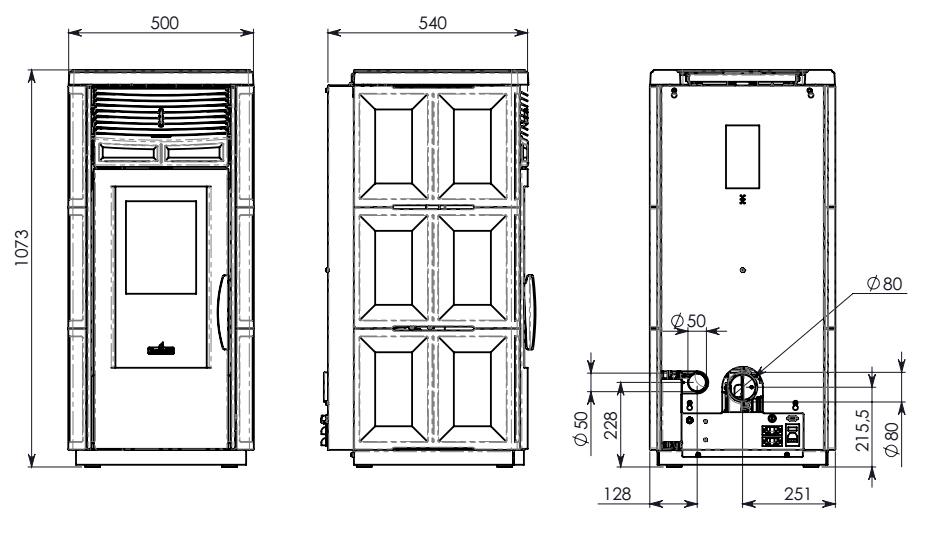 Stufa pellet ventilata 12kw ravelli holly maiolica bianca - Art 16 bis tuir causale bonifico ...