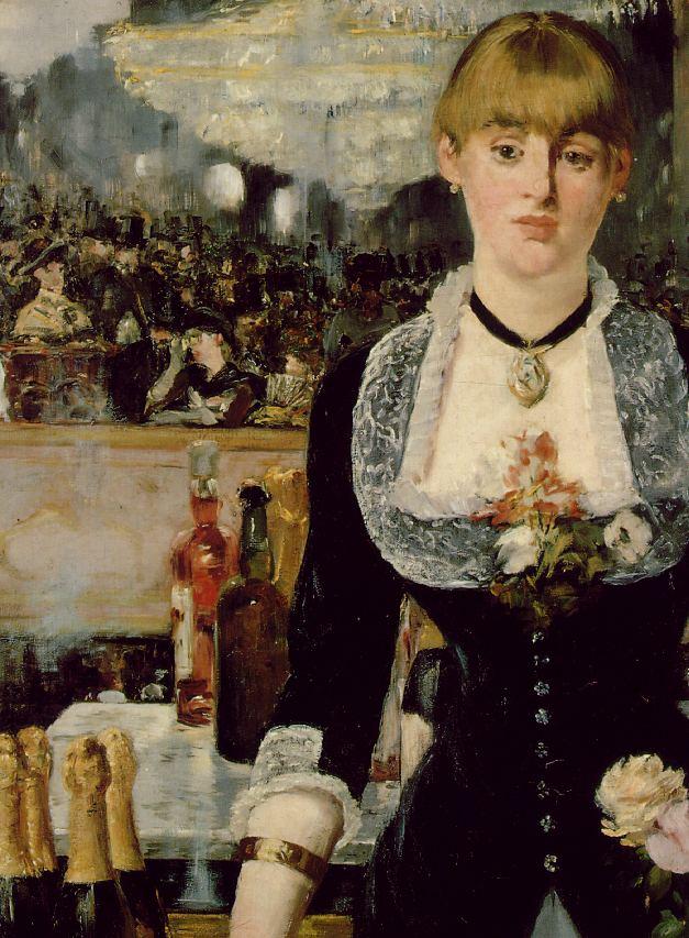 manet bar at fol...A Bar At The Folies Bergere By Manet