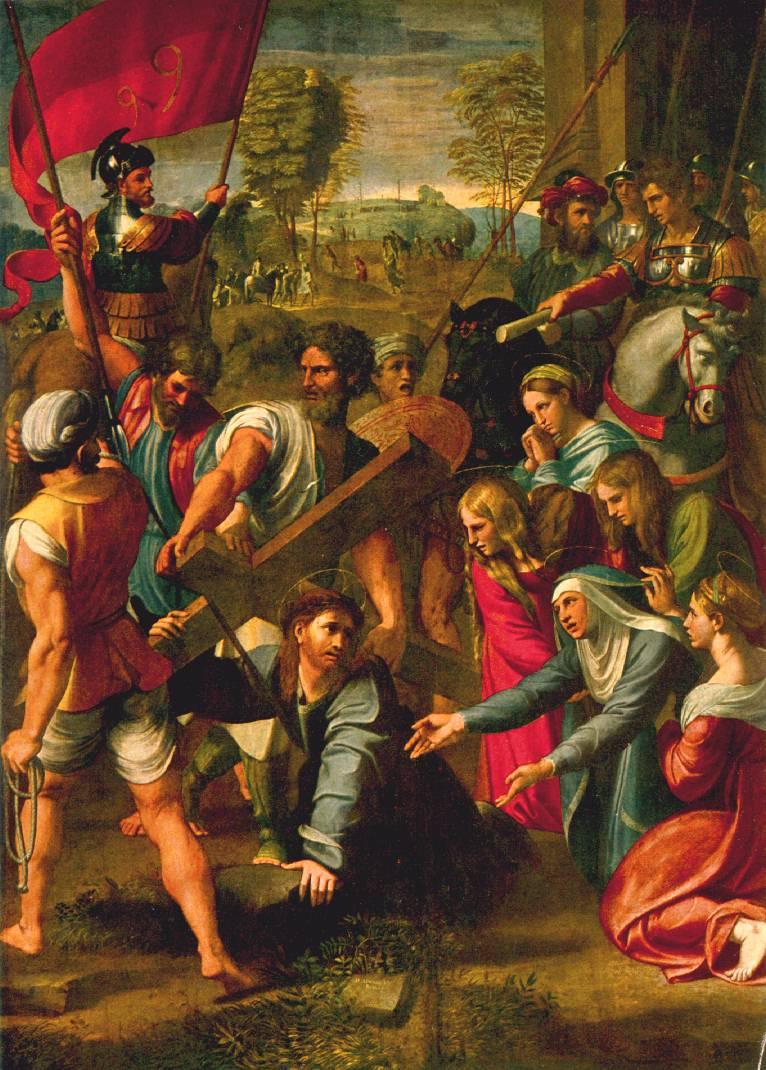 madonna christ raffaello sanzio Raphael sanzio (italian: raffaello) (1483 - 1520) transfiguration oil on wood, 1516-1520 405 cm #215 278 cm (159 in #215 109 in) pinacoteca vaticana, vatican city.