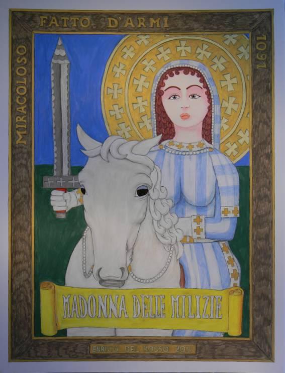 Madonna delle milizie ERICCO galleria d'arte di Enrico Del Rosso