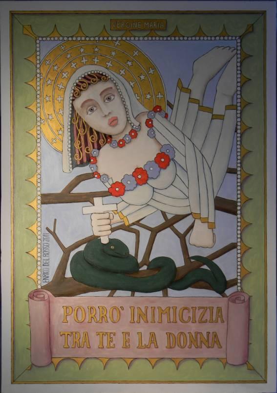 Porrò inimicizia tra te e la donna ERICCO galleria d'arte di Enrico Del Rosso