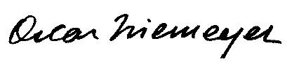 Autografo firma Oscar Niemeyer