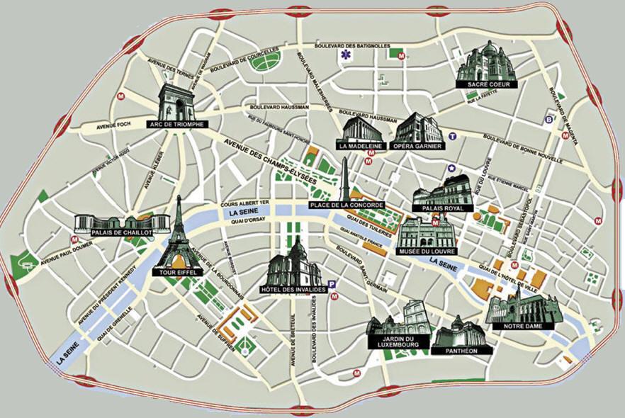 Monumenti Parigi Cartina.I Monumenti Di Parigi
