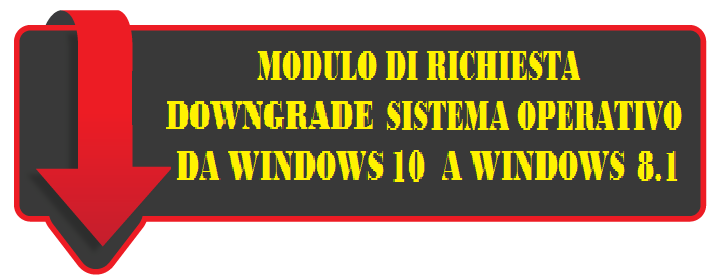 Downgrade da Win 10 a Win 8.1