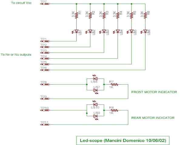 Schema elettrico oscilloscopio a led