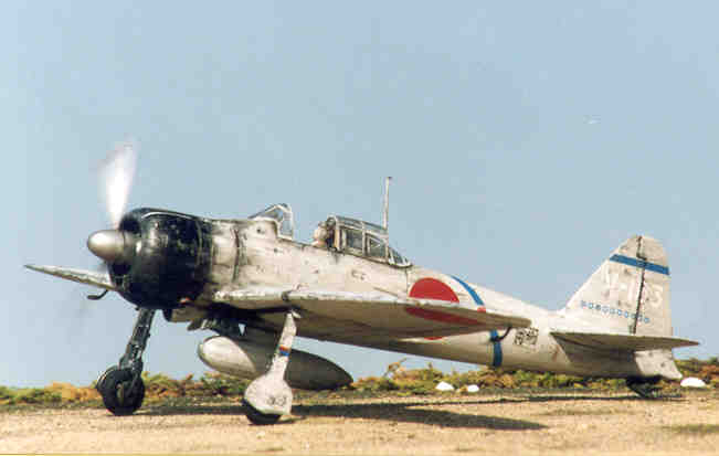Aereo Da Caccia Giapponese : Mitsubishi a m zero dell asso giapponese saburo sakai