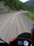 Il tratto sterrato dell'Umbrail Pass