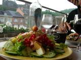 La Roche en Ardenne: la strepitosa salade vegetarienne della Brasserie Ardennaise