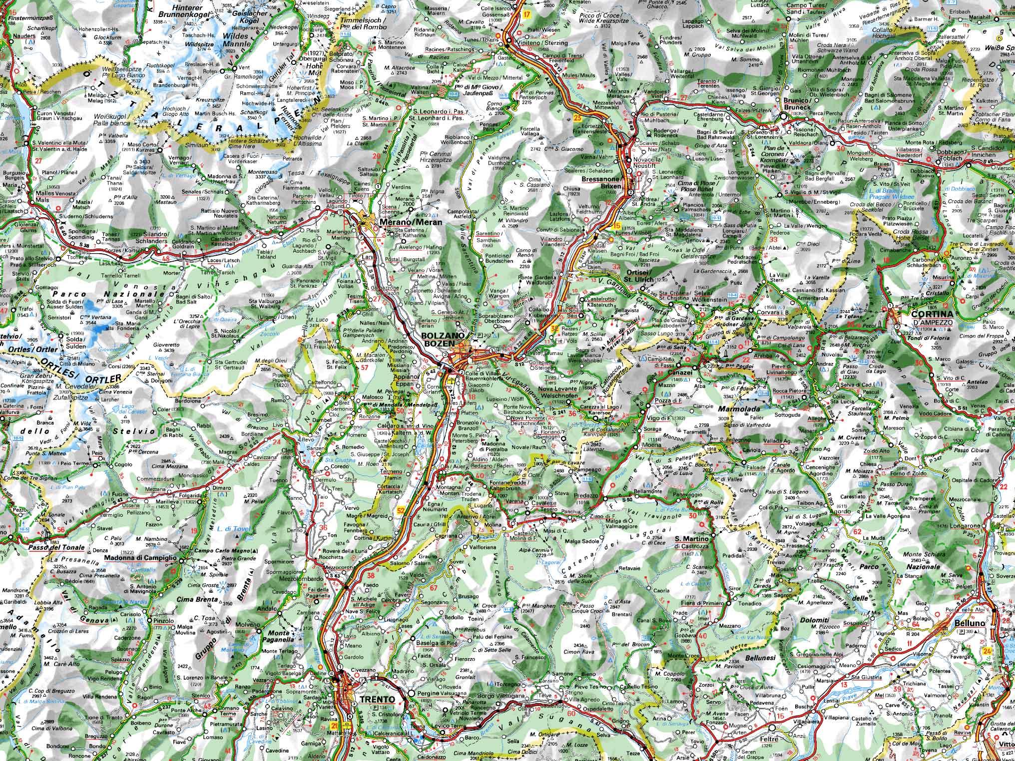 Valle Aurina Cartina Geografica.I Viaggi In Trentino Di Una Coppia Di Motociclisti Due Cuori Una Capanna