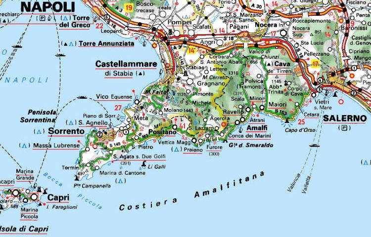 Costiera Amalfitana Cartina Stradale.I Viaggi In Costiera Amalfitana Di Una Coppia Di