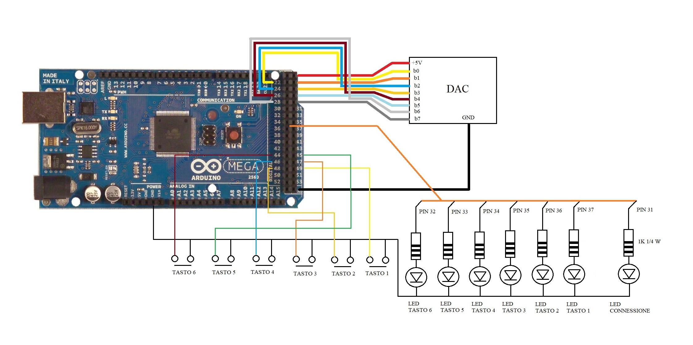 Schema Collegamento Ethernet : Arduino in ethernet