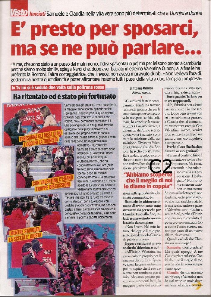 Samuele Nardi e Claudia Borroni su Visto