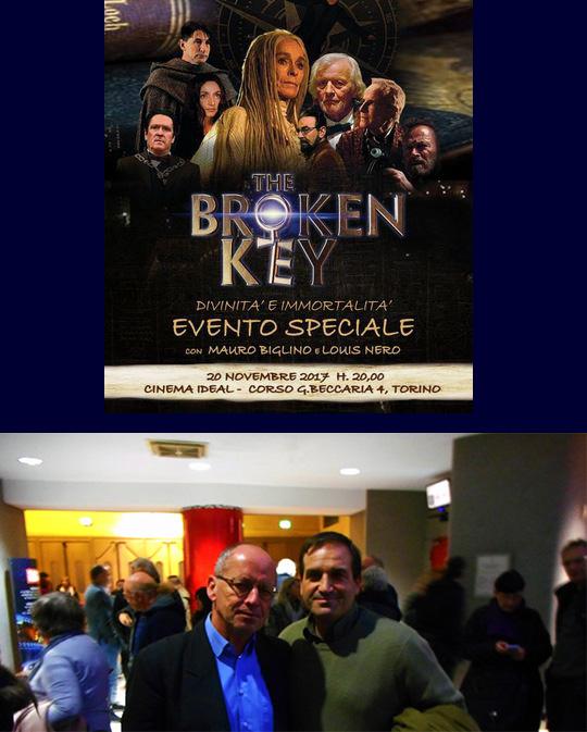 """Serata evento... incontro con Biglino alla presentazione del film... \""""The Broken Key\""""..."""