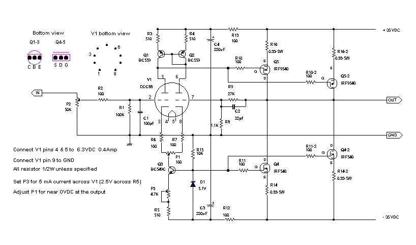 The Hybrid Circuitrhdigilanderliberoit: Hybrid Tube Lifier Schematic At Elf-jo.com