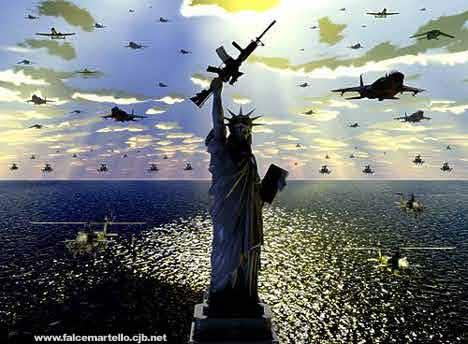 Estatua libertad guerrera