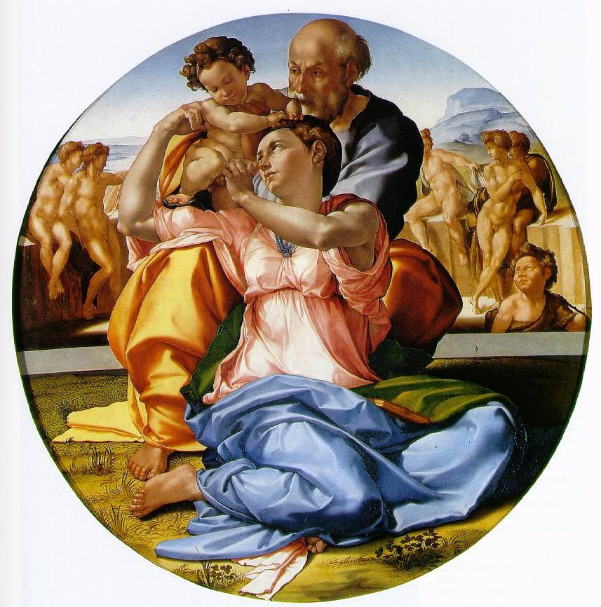 Copia Tondo Doni di Michelangelo Buonarroti. Bianca Fasano
