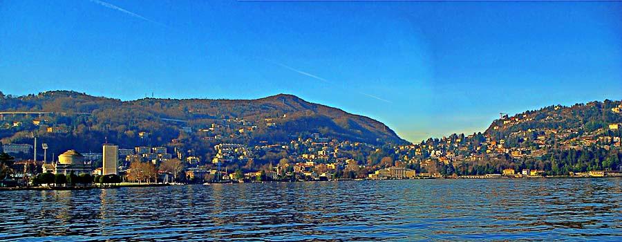 Como, il lago dal Lungo Lago Trieste