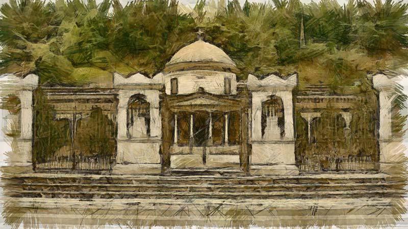 ingresso del cimitero monumentale di Como