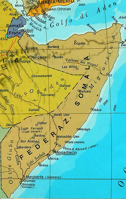 Cartina Giografica Africa.Cartina Geografica Corno D Africa