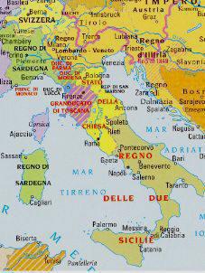 Austria Italia Cartina.Italia Dopo Napoleone 1815