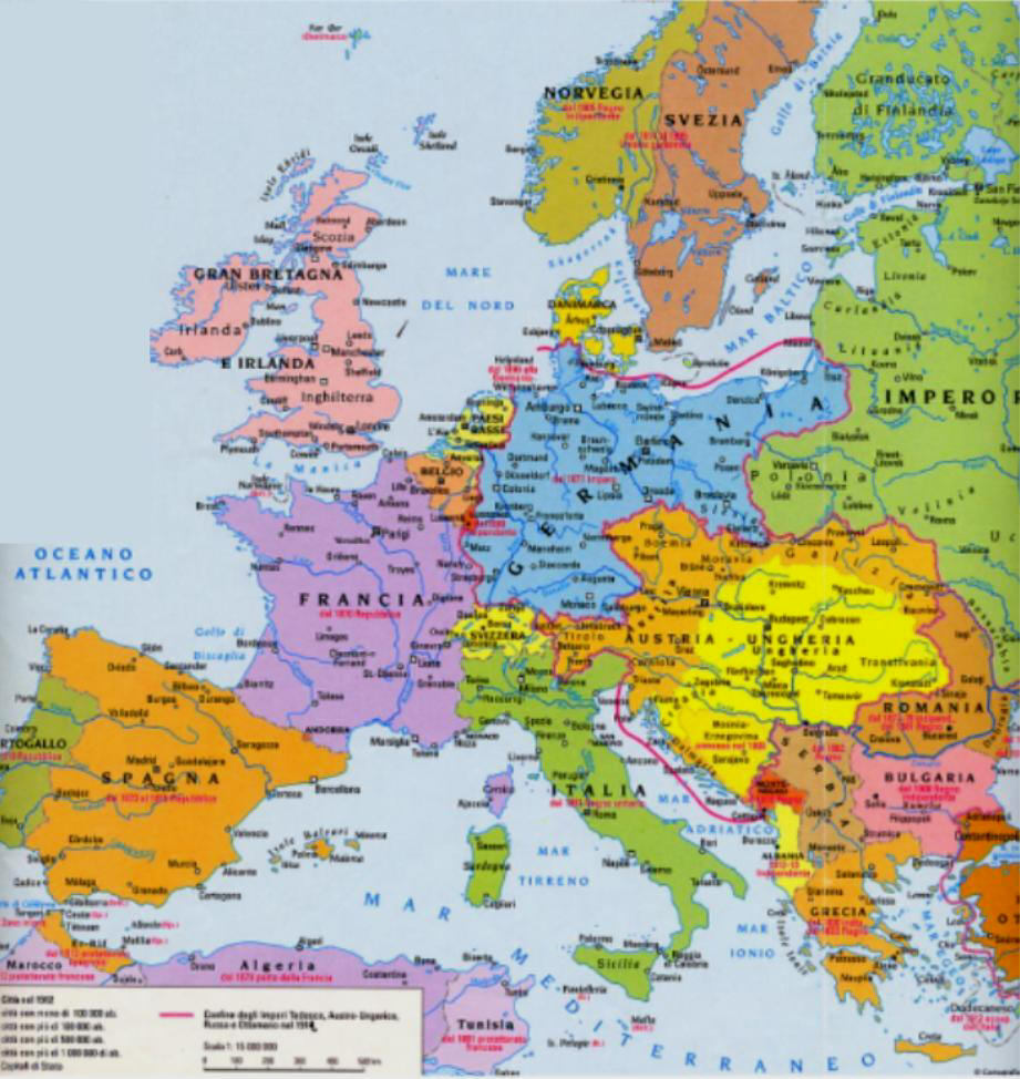 Cartina Europa 1700.Europa Nel 1912