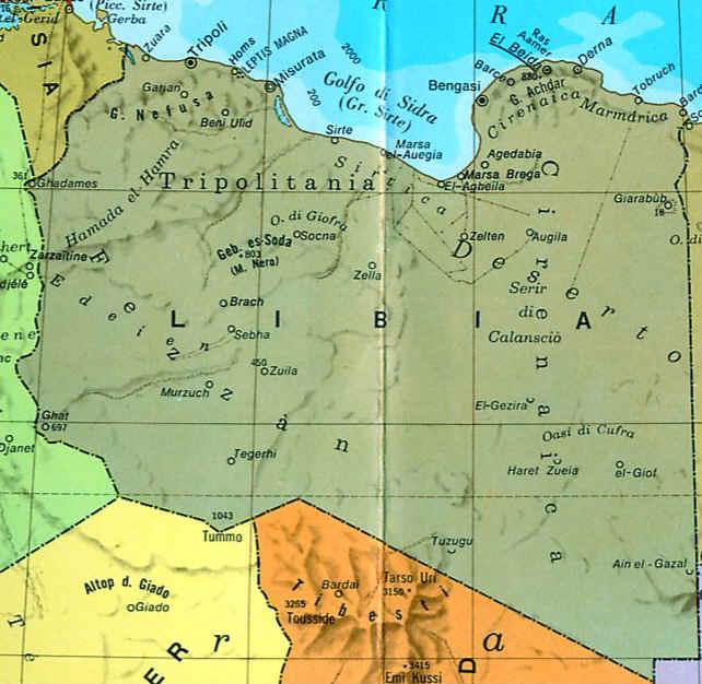Libia Italia Cartina.Cartina Libia