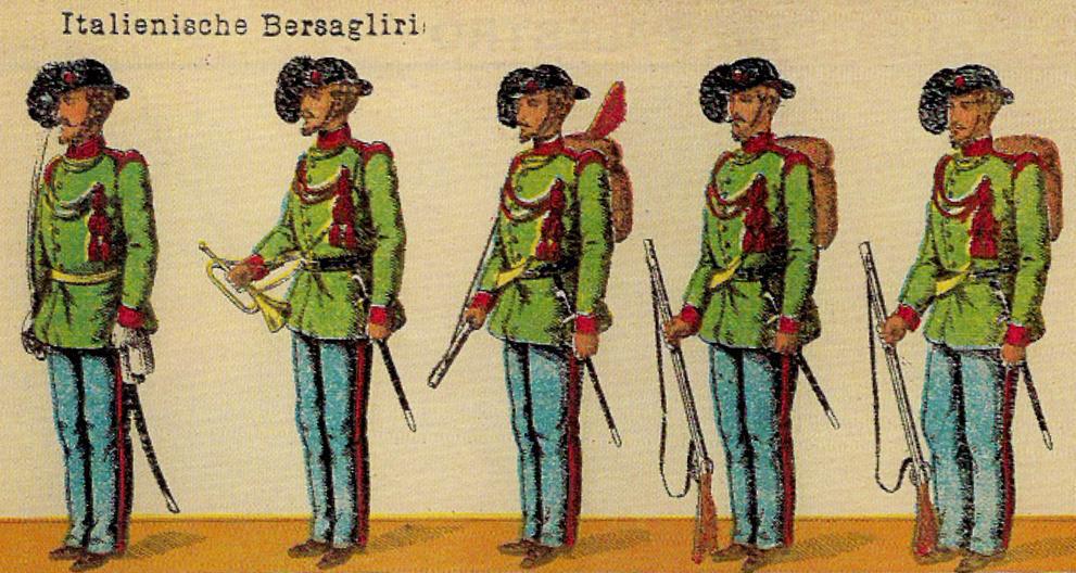 Sotto bersaglieri in lamina guerra civile spagnola