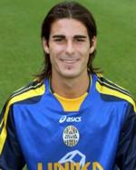Un sorridente Nico PULZETTI da Rimini, indimenticato motorino del centrocampo gialloblù nelle stagioni 2005/2006 e 2006/2007. Poi il passaggio al Livorno in serie A