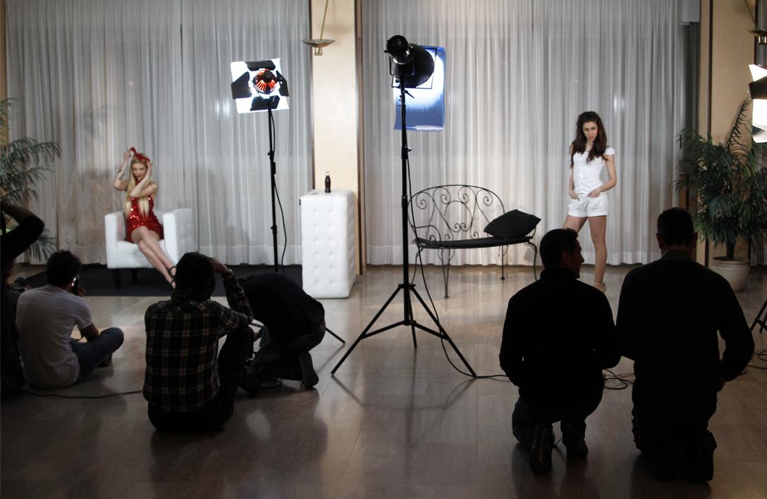 serata con modelle per corso fotografico a Como