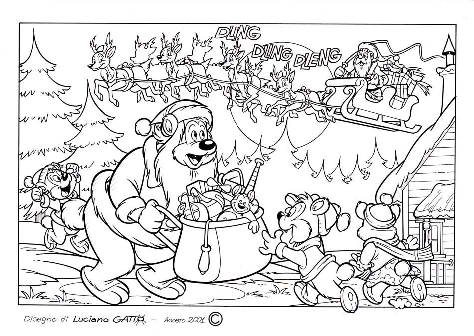 Per i bambini disegni da colorare di luciano gatto - Libero tacchino da colorare pagina ...